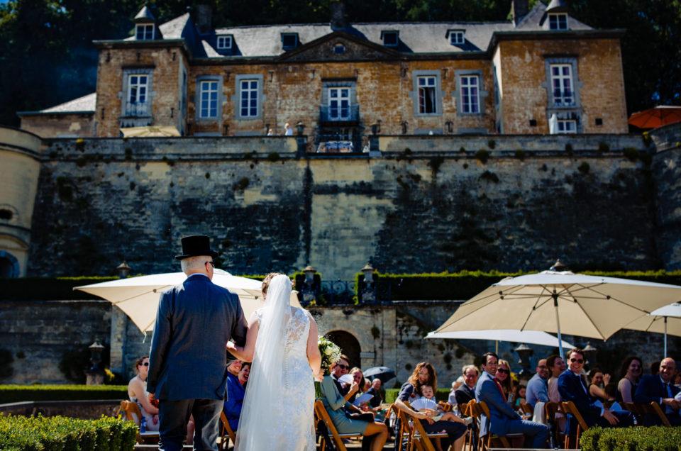 Bruiloft Christophe en Charlotte – Trouwfotograaf Limburg – Chateau Neercanne